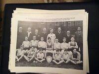 74-9 ephemera reprint picture crumlin newbridge boxing club fred taylor