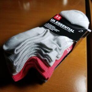 Under Armour Womens UA Essential  6 Pack Low Cut No Show Socks 6-9