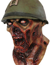 Halloween Adult Captain Leister Latex Skull Army Military Prop Mask. TA498