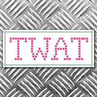 TW@T cross stitch funny bumper sticker - car decal 150mm x 60mm