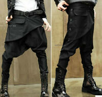 New Mens Casual Personality Crotch Trousers Hairstylist Harem Pants Low Pants