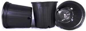 50 NEW Plastic Nursery 2 Gallon Trade POT ~ Actual Volume: 1.593 Gallons by N...
