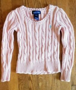 Ralph Lauren Toddler Girl's 3T Pink Cable Sweater