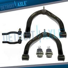 Front Upper Control Arm + Ball Joint Outer Tie rod for Nissan Titan Armada QX56