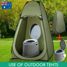 6L Portable Potty Toilet Outdoor Camping Shower Tent Pop Up Privacy Change Room