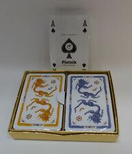 Bridge - Kartenspiel, Motiv: Ming Drache gelb / blau
