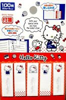 New SANRIO Hello Kitty Cute Tag Label 100 piece sticky Note Face