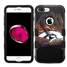 for iPhone 8 Plus Rugged Rubber+Hard Hybrid Case Denver Broncos #Glove