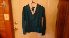 NWOT Womens teal sweater size M by Chadwicks