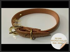 "Top Paw Dog Collar SMALL Bronze Metallic  -  10"" - 14""   2 tone"