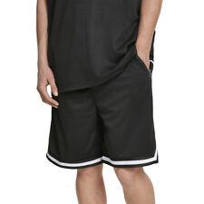 Urban Classics - White Stripes Mesh Shorts mit 3 Reißverschluss-Taschen - S-2XL