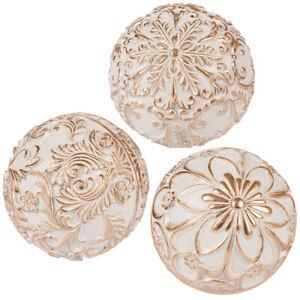 3er Set Dekobälle Ambiente Ball Porcelain Dekokugel Dekoball Tischdeko Kugeldeko