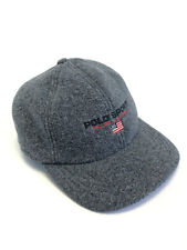 Polo Sport Ralph Lauren 90s Vintage Fleece Earflap Cap Hat Size S Grey