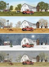 Billy Jacobs 4 Seasons on the Farm, Cow, Old Truck 4 Prints Posters