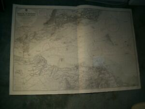 Vintage Admiralty Chart 114B FIRTH OF FORTH - FISHERROW to PORT EDGAR 1920 edn