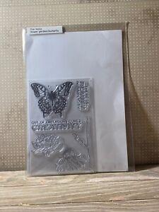 Tim Holtz Flower Garden/Butterfly Clear Stamps - New