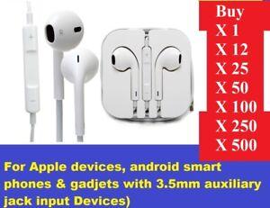 Wholesale Earphones Headphone 4 School iPhone 6s 6 5c 5s 5 SE iPad iPod With Mic