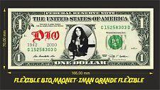 DIO RONNIE JAMES IMAN BILLETE 1 DOLLAR BILL MAGNET