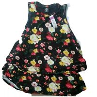 Agnes & Dora sleeveless floral tiered ruffle tunic blouse stretchy top size XL