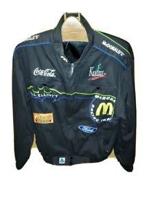 RARE Bill Elliott #94 McDonalds Racing Team Race Jacket Mens Size Large NASCAR