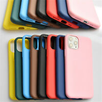 For iPhone 11 Pro XS MAX XR X 7 8 6 Plus Simple Candy Color Silicone Phone Cases
