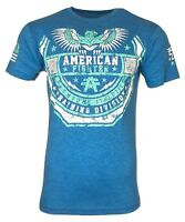 AMERICAN FIGHTER Mens T-Shirt SAMFORD Athletic Premium Biker MMA Gym MIX1 $50