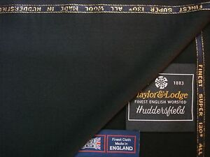 SUPER 130's WOOL Mid.WEIGHT SUITING FABRIC - Taylor & Lodge – ** See Below **