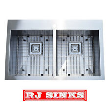 31 inch Top Mount Double Bowl 16 Gauge Stainless Steel Kitchen Sink