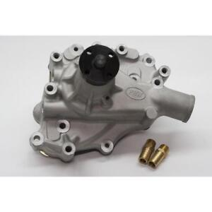 PRW Water Pump 1430200; Satin Aluminum Mechanical for Ford 302 SBF