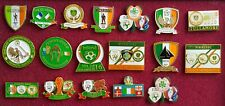 18 Republic of Ireland Supporters Clubs Pin Badges collection Irish fai football