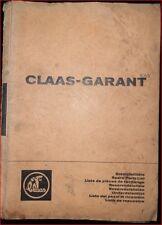 Claas Garant Ersatzteilliste