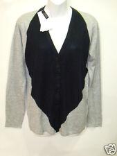 NWT Womens Lacoste Cashmere Silk V Neck Cardigan Sweater Croc 2  XXS NEW