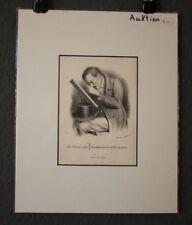 "Lithografie ""Auktions Jäger, Auctions"", von Pobuda, Rees & Cie nach F.Elias 1835"