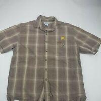 Carhartt Short Sleeve Large Shirt Mens Button Up Rolls Royce