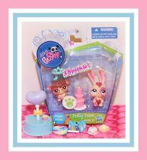 ❤️NEW Littlest Pet Shop LPS 2147 2148 Sparkle Bunny Rabbit Guinea Pig NIB❤️