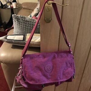 Gorgeous Ladies Large Deep Fushia Kipling Corinne Shoulder Messenger Bag New