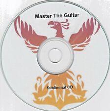 MASTER THE GUITAR - Improve Guitar Playing Skill Music Motivation SUBLIMINAL CD
