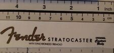 Fender Stratocaster Decal Waterslide Restoration Logo 1950s Style