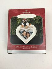1998 Hallmark Ornament Our First Christmas Together Photo Holder Heart w Box NOS