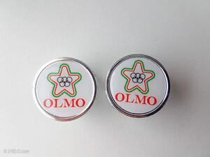 Vintage style OLMO white Handlebar End Plugs