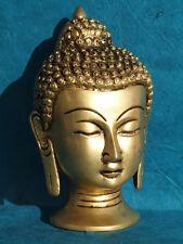 Tête Bouddha Buddha Laiton H=11cm 440g Artisanat Inde