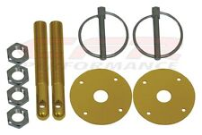 Gold Hood Pin Kit Flip-Over Style Universal for Chevy Ford Mopar  FREE SHIPPING