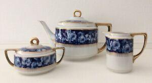 Rosenthal Empire Teekern    um 1910  Dekor: Bleu Royal   Selten