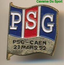 PIN'S BADGE MATCH PSG - SM.CAEN CHAMPIONNAT D1 21-03-1992