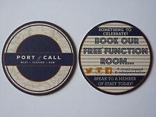 Port Of Call Meat - Seafood - Rum Beermat Coaster