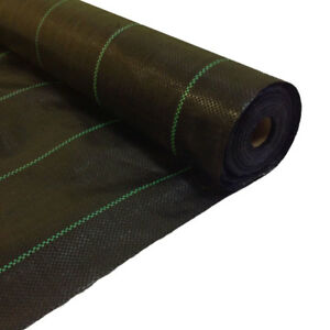 2m x 20m + 5m Free 100g Weed Control Ground Cover Membrane Fabric MULCH garden