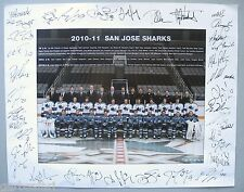 SJ Sharks Team Photo 2010-11 Season Ticket Holder NHL Hockey 11x14 San Jose
