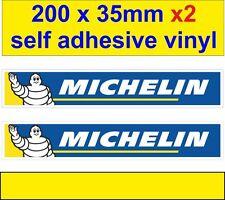 new 2 Michelin man tyres stickers car van bus truck bike motorbike decals