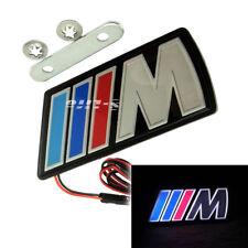 Universal ///M Motorsport M power Car Front Hood Grille Emblem LED Light for BMW