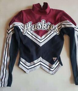 Vintage Varsity Cheerleader Huskies High School Uniform Sweater, Size 34